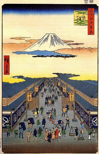 Ukiyo-e Hiroshige Sugura Street by griffinlb, via Flickr