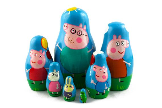 Matryoshka Matrioshka Russian Nesting Doll Babushka Peppa Pig