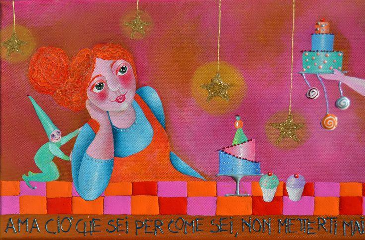 Alexia Molino - Ama ciò che sei per come sei, non metterti mai a confronto con gli altri (20x50 particolare)