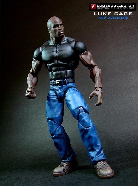 Luke Cage (Marvel Legends) Custom Action Figure by loosecollector Base figure: WWE Elite