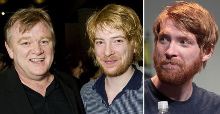 """Domhnall Gleeson. You'll recognize Domhnall from films like Harry Potter, Star Wars: The Force Awakens, Ex Machina, The Revenant, and About Time, among his long list of credits. He played alongside his father, Brandon Gleeson in Harry Potter (Brandon played Alastor """"Mad-Eye"""" Moody, while Domhnall played Bill Weasley). Along with acting, the Irish looker is a writer. He is also considered, and we would agree, to be one of the best looking red heads ever."""