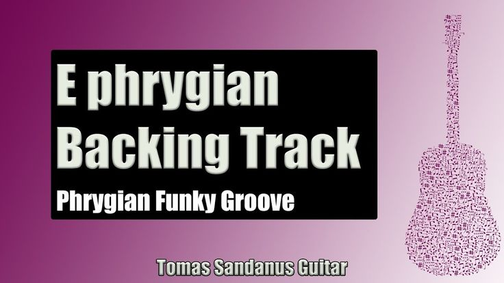Phrygian Funky Groove | Guitar Backing Track Jam in E phrygian mode with...