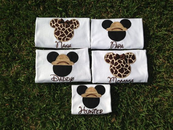 Safari  Disney World Shirts for the Family  Mickey & by CuteZTootZ, $25.00