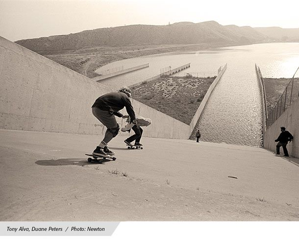 tony alva duane peters - Skateboard Bank Beine