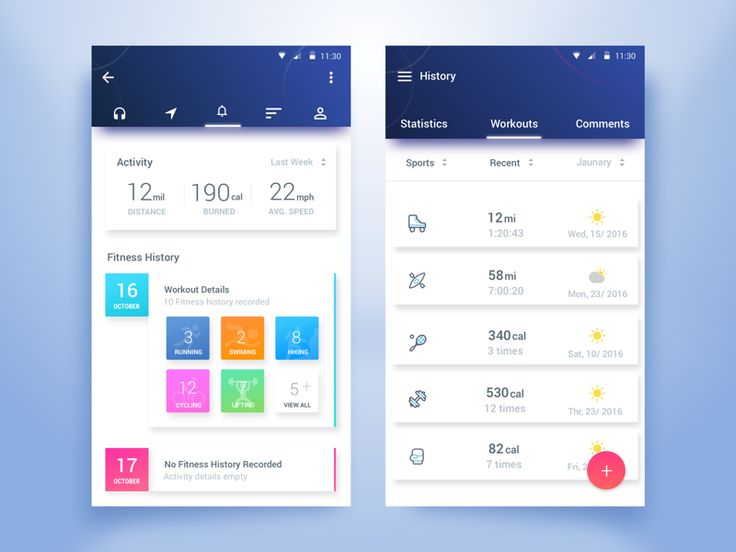 Fitness Tracker App by Rifayet Uday #Design Popular #Dribbble #shots
