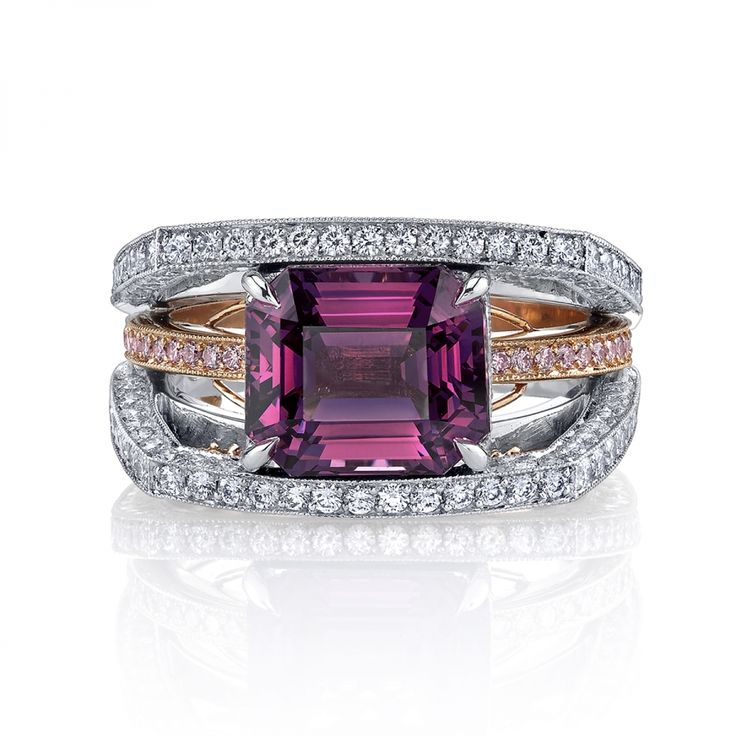 Omi Prive: Purple Spinel and Diamond Ring
