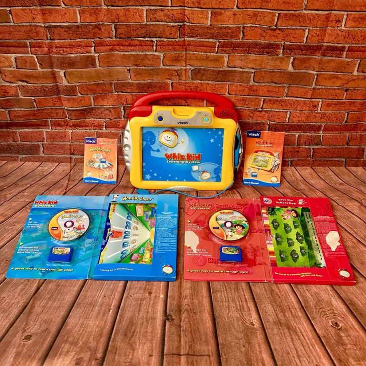Vtech Wiz Kid Learning System Bundle over 240 Playable Games Activities 3-6 Yrs