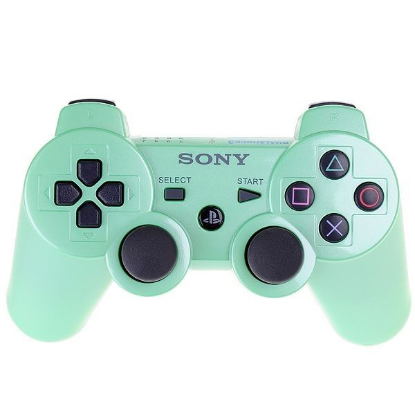 Green PS3 controller | Want | Playstation games, Games