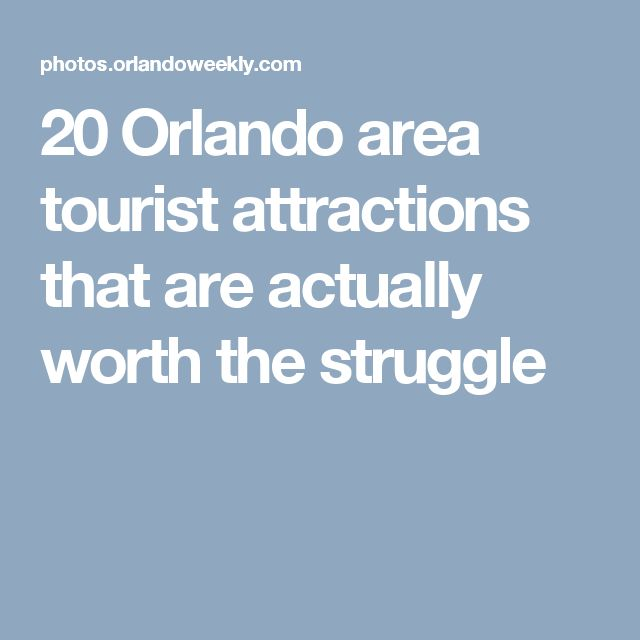 20 Orlando area tourist attractions that are actually worth the struggle