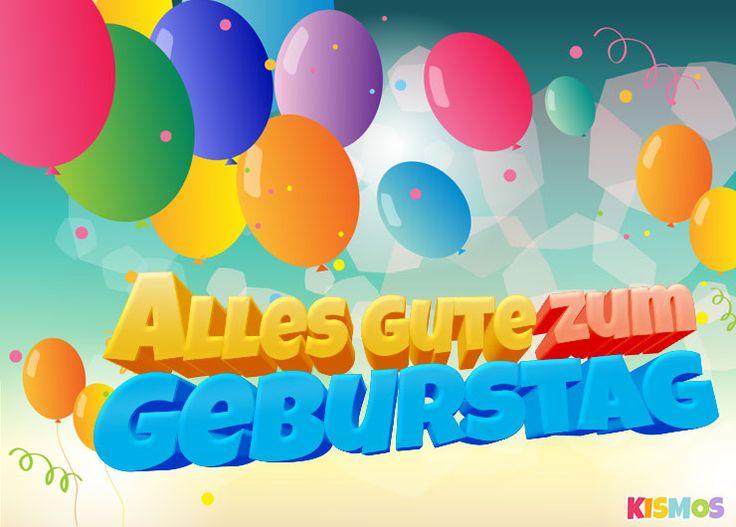 Geburtstagskarte Bunte Luftballons Herunterladen, Ausdrucken Oder Auf  Facebook Teilen. Kismos Einladungen Und Kostenlose Geburtstagskarten