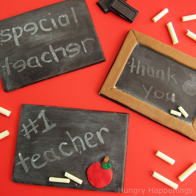 Hungry Happenings: Surprise your teacher with an edible chalkboard.