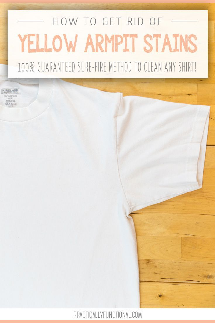 how to get rid of sweat stains on shirts