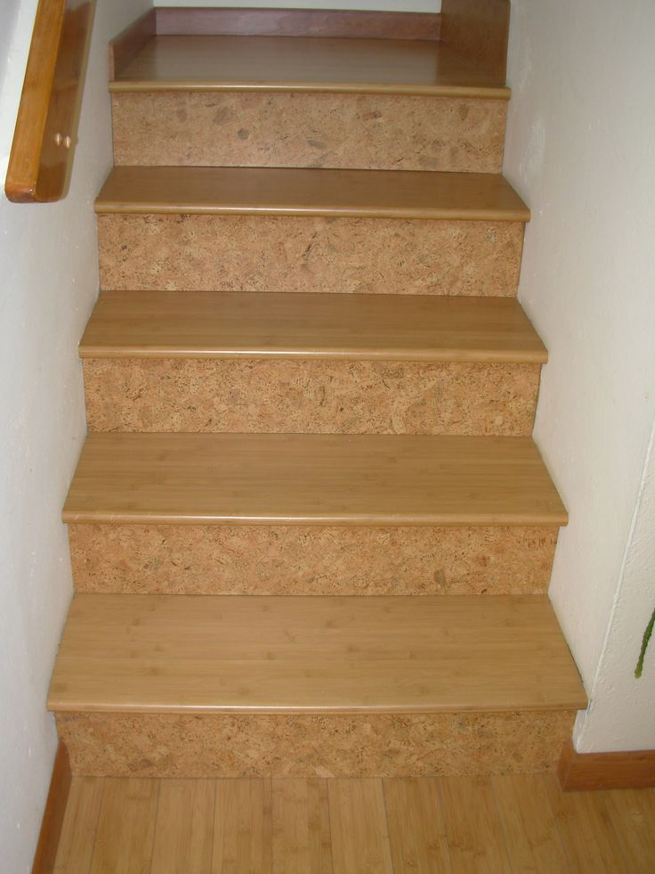 Cork Risers Compliment The Bamboo Stairtreads And Landings
