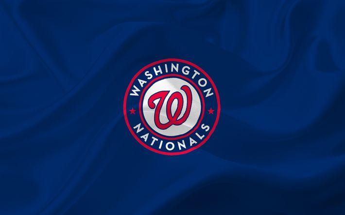 Descargar fondos de pantalla Nacionales de Washington, Béisbol, estados UNIDOS, MLB, Emblema, logo, Liga Mayor de Béisbol, Washington, equipo de béisbol