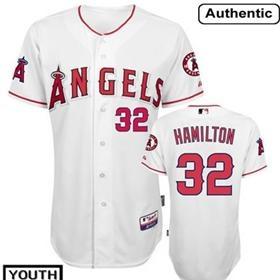 LA Angels of Anaheim #32 Josh Hamilton White Kids Jersey