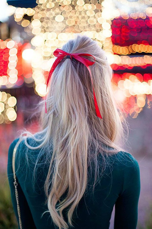 Holiday Hair Ribbons and Bows