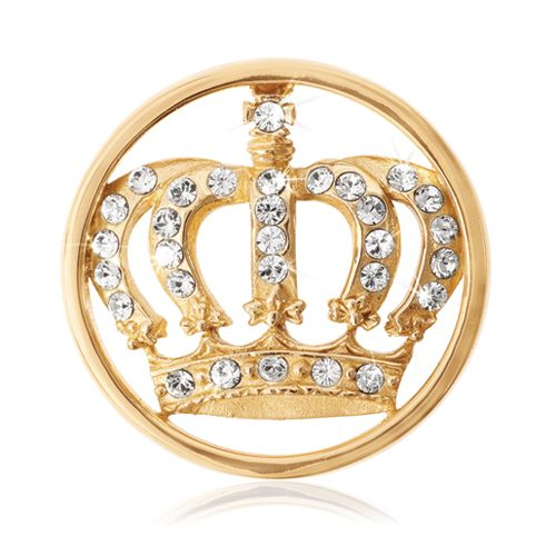 The Swarovski detailed, 'Crown' coin for the 'Queen' in your life! #janesjewelers