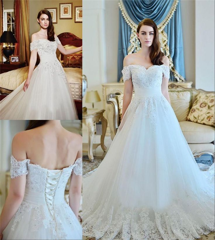 Free shipping, $198.96/Piece:buy wholesale 2016 Spring Off Shoulder Wedding Dresses A Line Vintage Lace Sequins Beads Princess Wedding Gowns Floor Length White Tulle Bridal Gowns from DHgate.com,get worldwide delivery and buyer protection service.