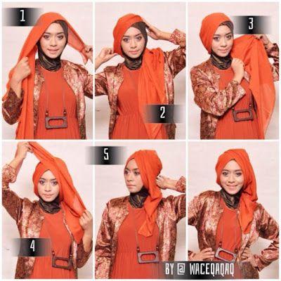 cara memakai hijab: 8 Tutorial Hijab Segitiga Simple Dan Modern