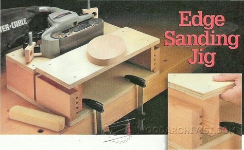 Belt Sander Stand - Sanding Tips, Jigs and Techniques | WoodArchivist.com