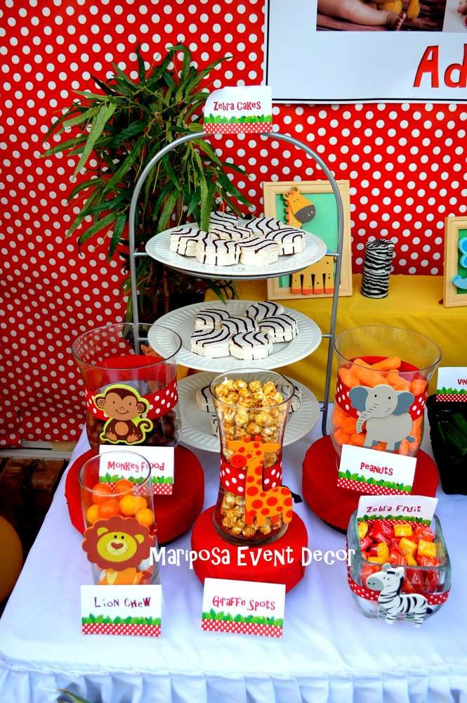 Jungle, Safari, Animals, lion Birthday Party Ideas | Photo 1 of 30 | Catch My Party