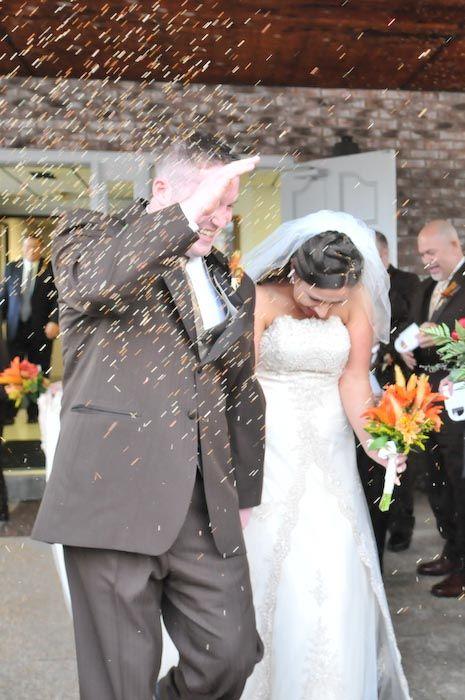 Throwing birdseed, not rice, at a wedding - http://www.captivatingimagery.com/blog/2008/
