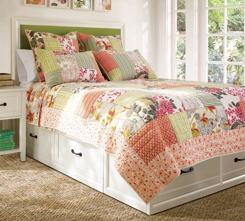 stratton bed again; perfect for bed linens, pjs, books and magazines to read in bed...