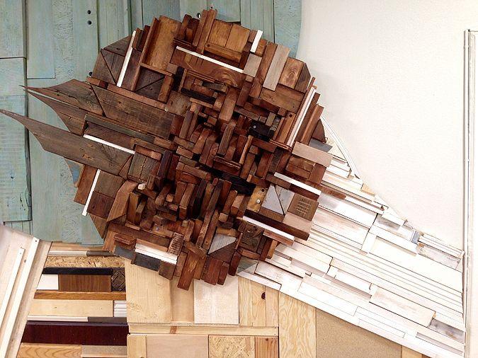 #scrap #wood #wall #art