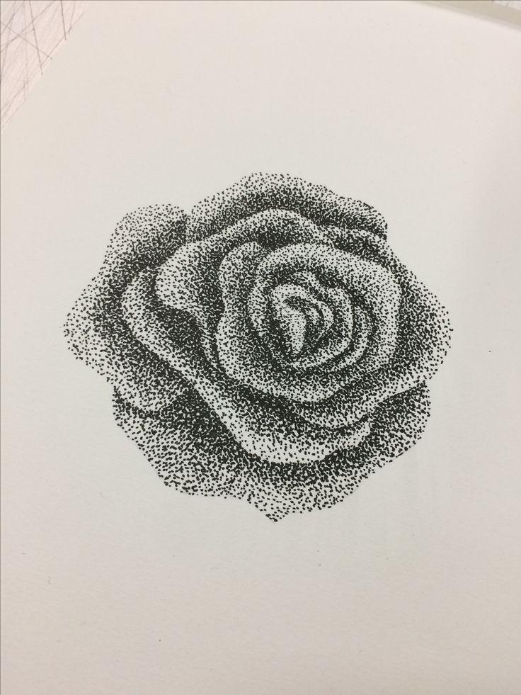 Rosa puntillismo