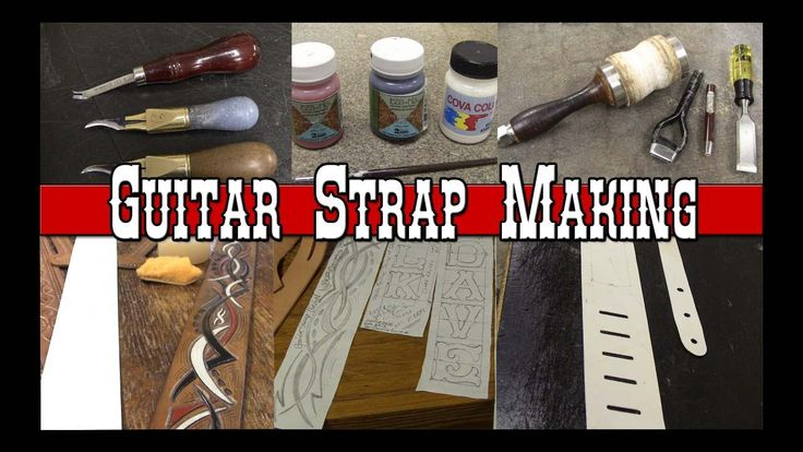 Guitar Strap Making Part 1 How to make Custom Leather Guitar Straps Leat...