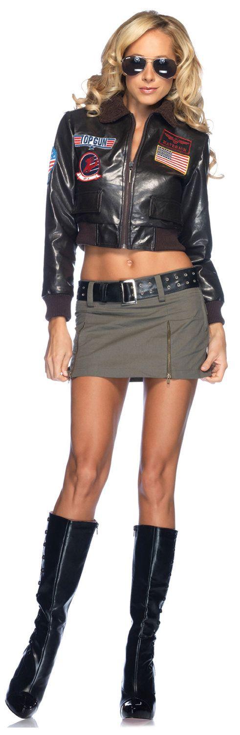 Fun Womens Sexy Top Gun Pilot Costume