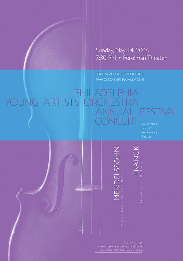 Philadelphia Young Artists Orchestra • 2006 • Mendelssohn: Violin Concerto in E Minor • Paone Design Associates