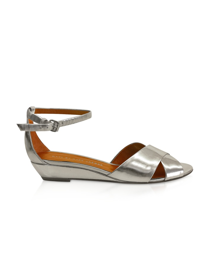 Marc by Marc Jacobs Peaces - Sandalo in Pelle Metallizzata | FORZIERI