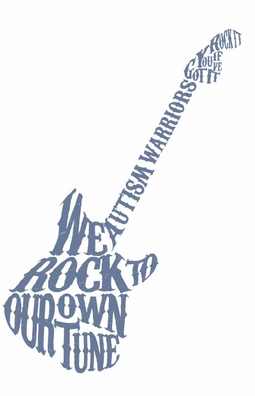 Rock Tune Autism T-Shirt c. 2014 Warrior Brand Clothing #Autism #tshirts ...... I LOVE THIS FOR A FUNDRAISER SHIRT, or maybe just for a Dre shirt?!!