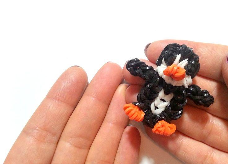 comment faire un pingouin avec des lastiques sans machine diy lastiques sans machine. Black Bedroom Furniture Sets. Home Design Ideas