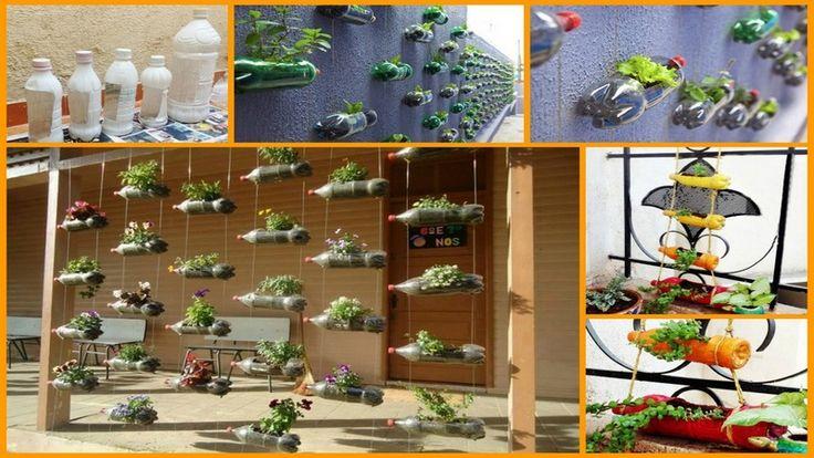105 best images about vegetable gardening project with ideas on pinterest gardens helpful - Plastic bottle vertical garden ideas ...