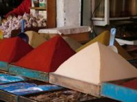 Spices pyramids in Casablanca's souk. Remember that bargaining in the souks is expected! Bargaining is an enjoyable experience for most vendors and they prefer clients that don't appear hurried and are willing to take the time to negotiate.