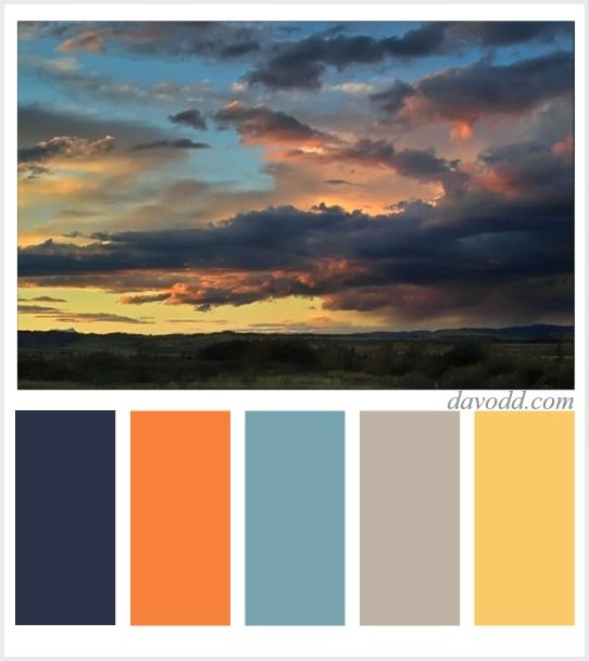 8 best images about sunset color schemes on pinterest for Ocean blue color combinations