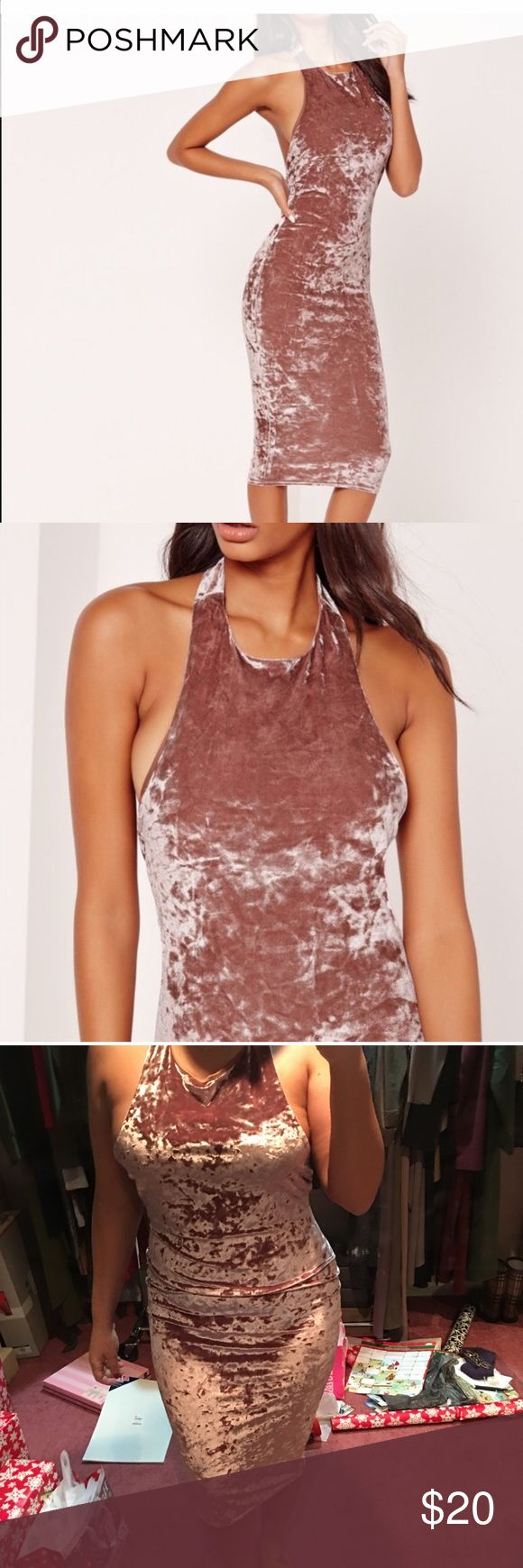 Missguided pink velvet dress Brand new with out tags. Great dress just don't like it in myself. Missguided Dresses