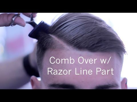 how to cut hair with scissors over comb