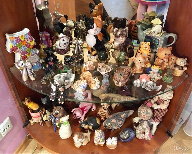 Витрина зеркальная с подсветкой + коллекция котов — фотография №6