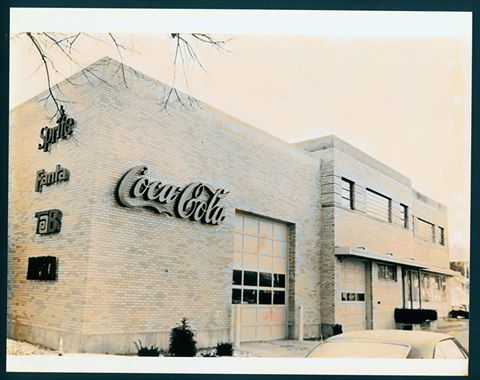 Coca Cola bottling plant at 16th & Washington Sts., Marion, Indiana. Photo/Marion Public Library Historic Photo Collection.
