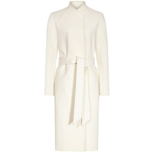 Reiss Skye Wool Cashmere Coat, Off White (29.215 RUB) ❤ liked on Polyvore featuring outerwear, coats, long wool coats, cashmere coats, long coat, woolen coat and reiss coat