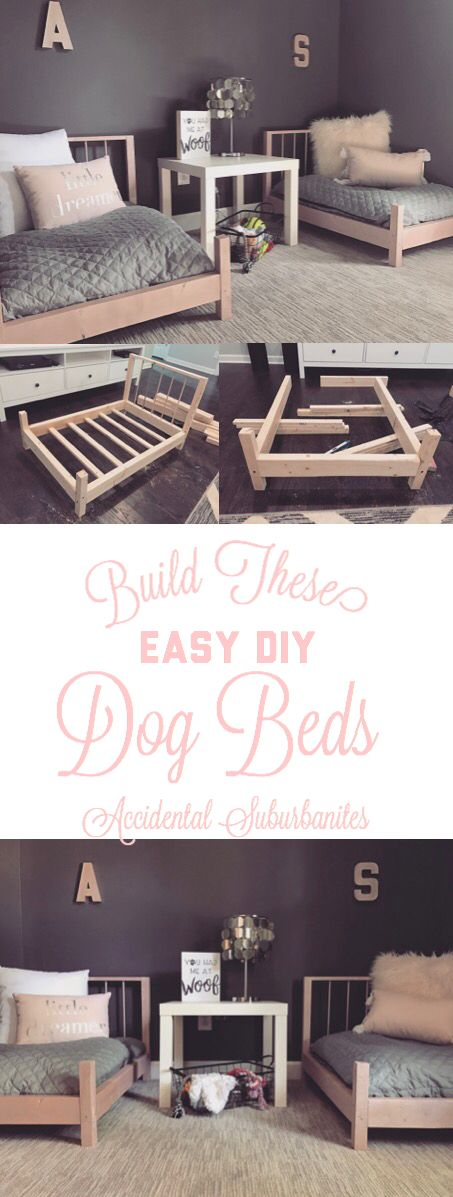 Dog bed DIY ideas for large dogs pallet dog beds DIY furniture ideas building plans dog bedroom pink and grey doll bed DIY