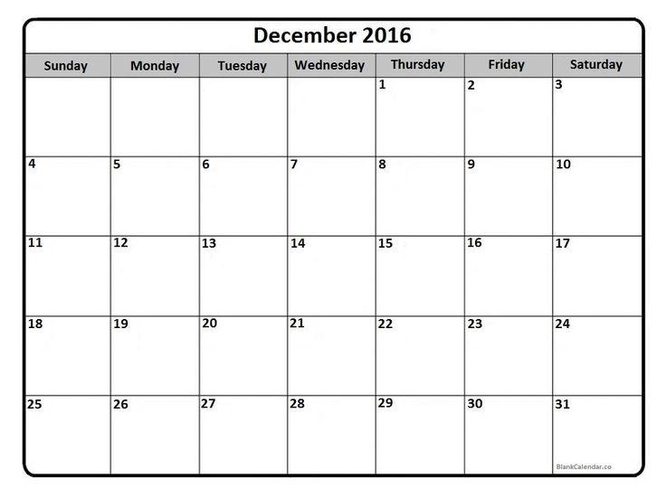 2016 calendar printout | calendars | Pinterest | December 2016 ...