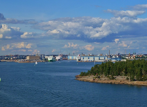 Sailing away from Helsinki,Finland