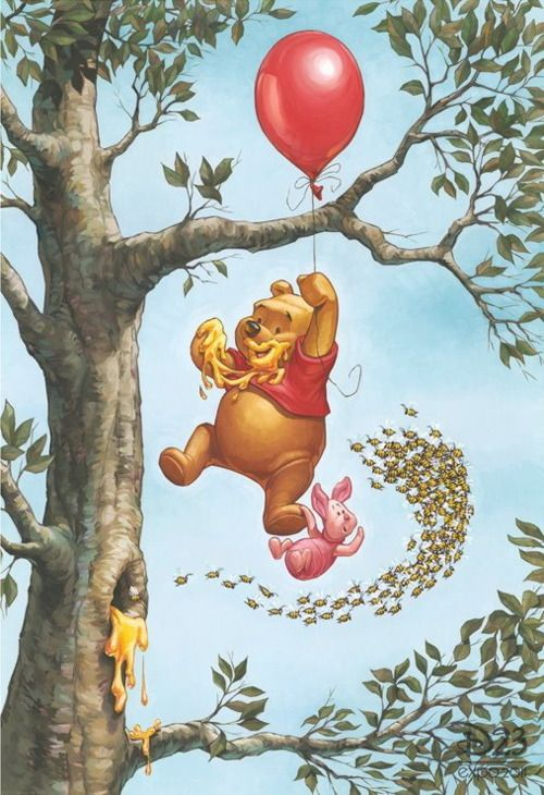 My favorite Pooh cartoon. and the reason i got this tattoed on my leg :)