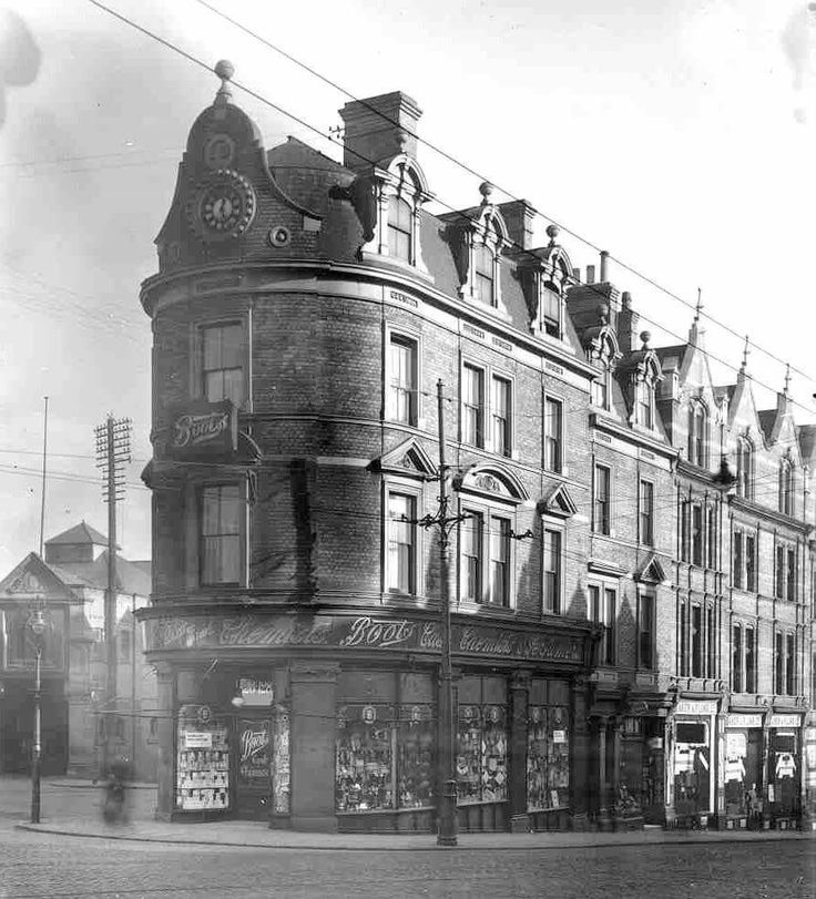 126-128 Derby Road, Canning Circus, Nottingham 1912 Former Boots Chemist Building Photo Credit : Ed Dexter
