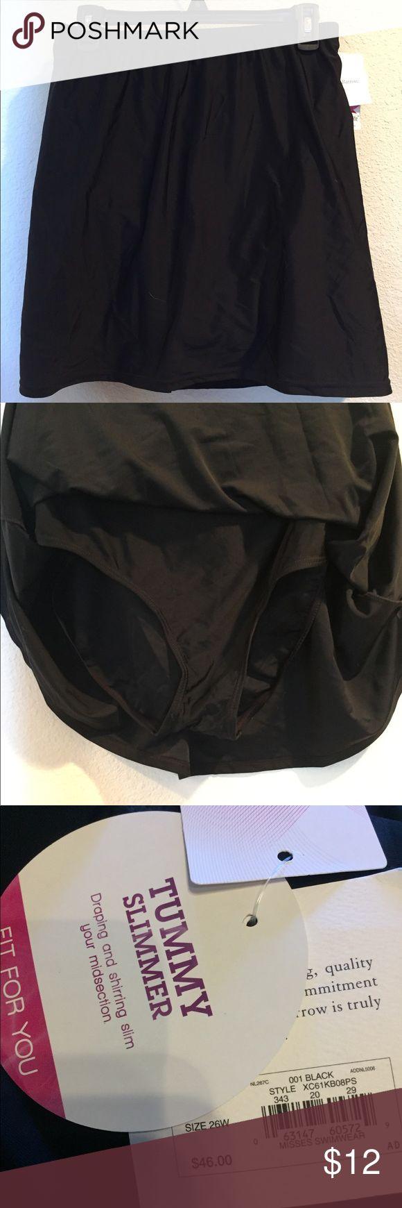 NWT. Swim Skirt NWT. Black swim skirt. croft & barrow Swim
