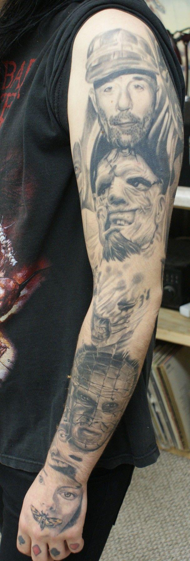 horror portrait sleeve best portrait tattoo artist tampa 1603 tattoo ...